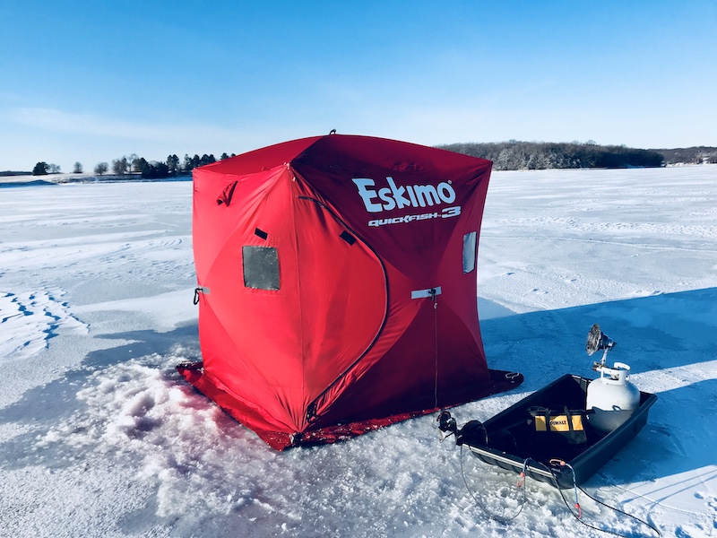 Eskimo QuickFish 3 Ice Fishing Shelter Review - EatnLunch